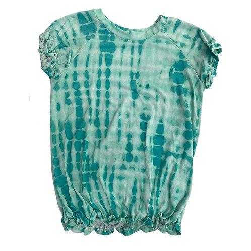 Camiseta tie dye elastex nuances verde