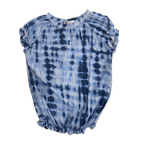 Camiseta tie dye elastex nuances azul