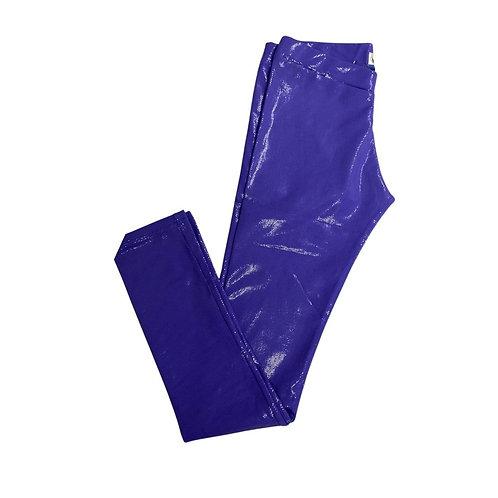Legging brilho azul