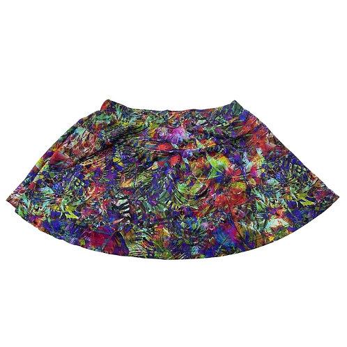 Shorts saia folhas
