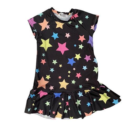 Vestido Estrelas Preto