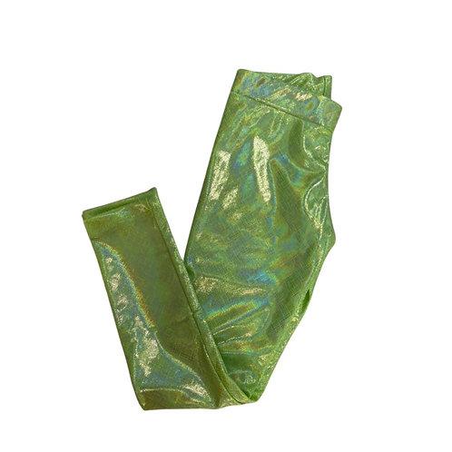 Legging brilho verde limao