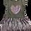 Thumbnail: Vestido plissado coração mescla com lilás