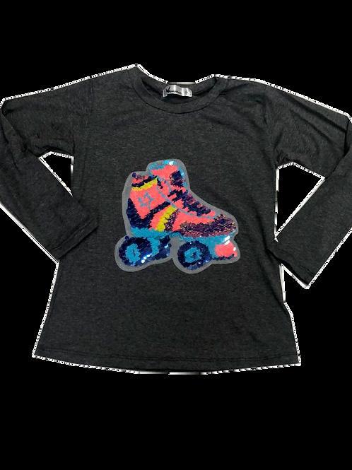 Camiseta patins mescla manga longa