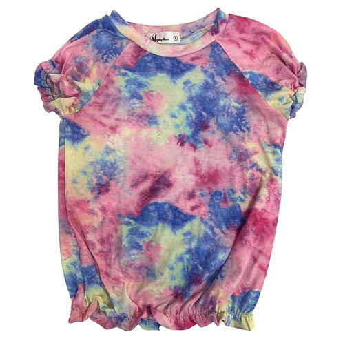 Camiseta tie dye elastex rosa