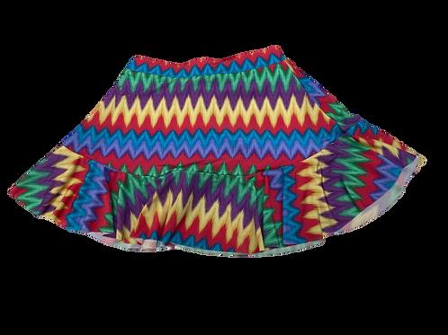 Shorts Saia Babado Zig Zag