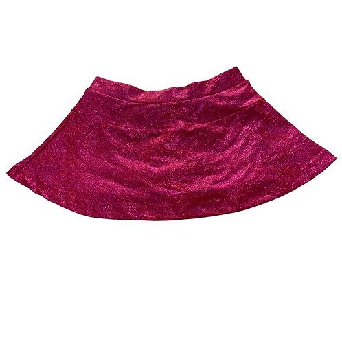 Shorts saia pink glitter brilho