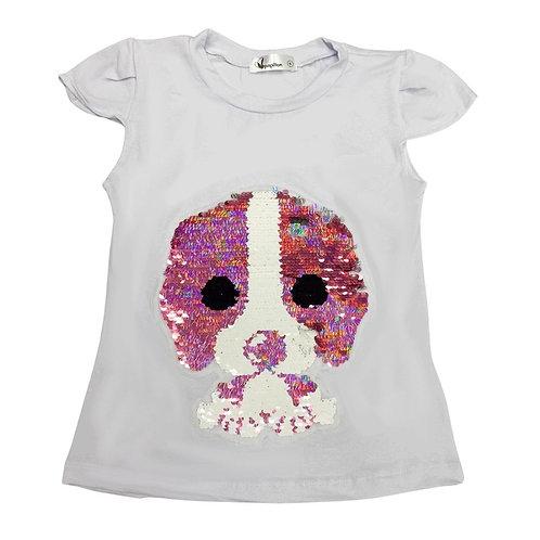 Camiseta cachorrinho rosa