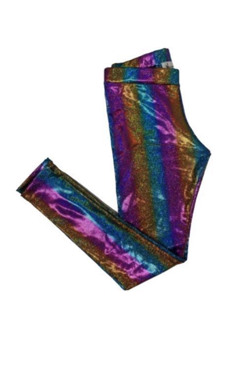 Legging brilho Arco-Íris