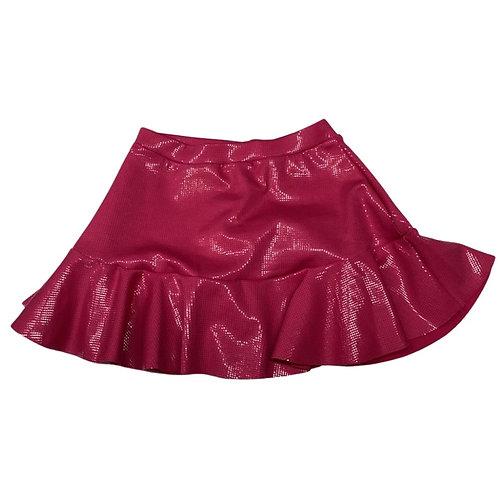 Shorts saia babado brilho pink