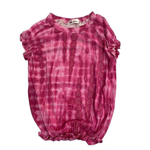 Camiseta tie dye elastex nuances rosa