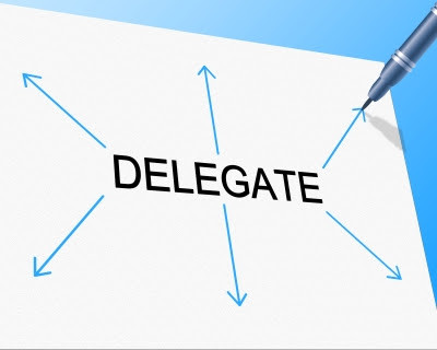 make the decision to delegate