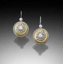Byzantine Bubble Earrings with Pearls