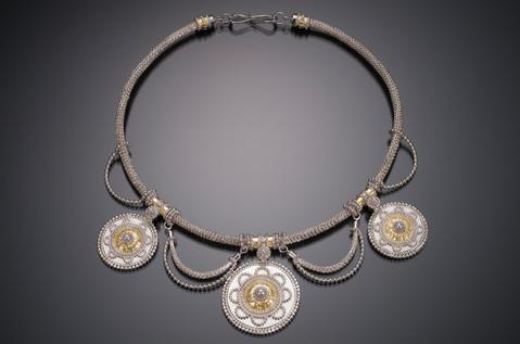 Byzantine Woven Medallion Necklace