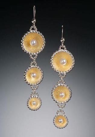 Inner Light Triple Dangle Earrings