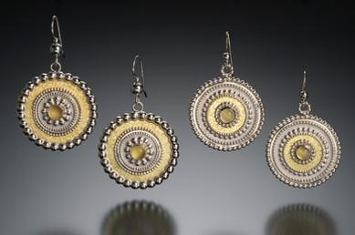 Byzantine Medallion Earrings