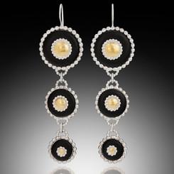 Dandella Triple Coin Earings