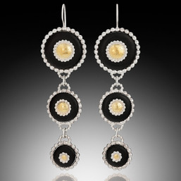 Dandella Triple Coin Earings
