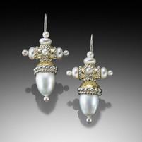 Byzantine Coronation Drop Earrings