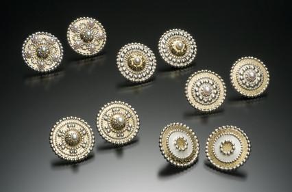 Byzantine Shield Stud Earrings