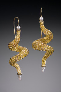 Handwoven Spiral Earrings
