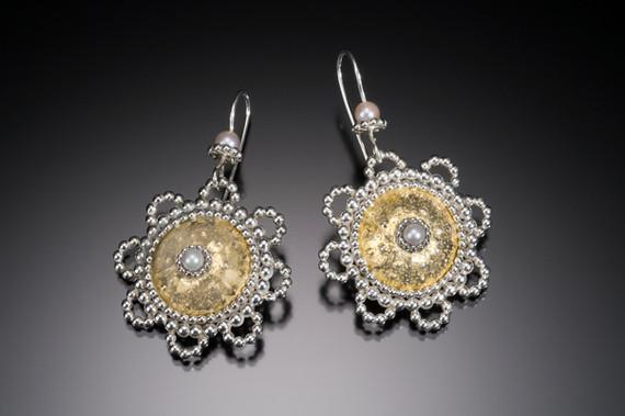 Byzantine Sunflower Earrings