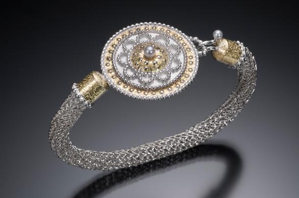 Handwoven Byzantine Medallion Bracelet