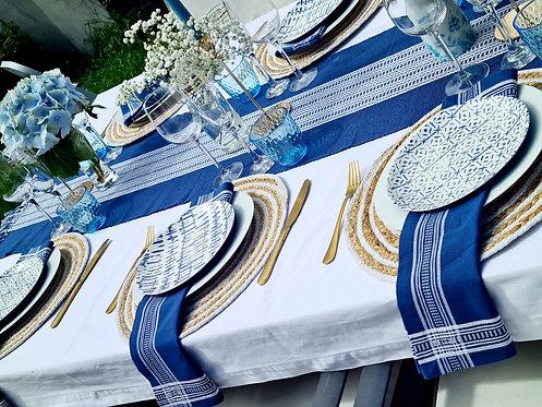 Navy & White Table - 6