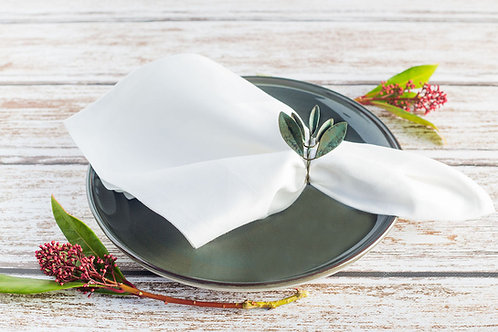 white luxury napkin