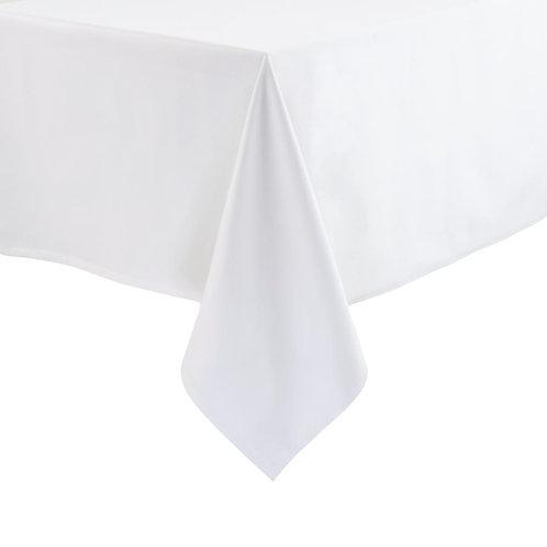 Pure White Cotton Satin Band Tablecloth
