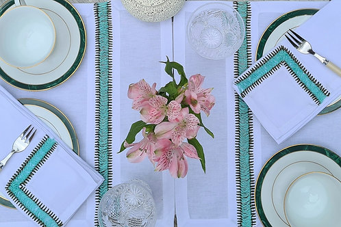 Embroidered Placemat - Green