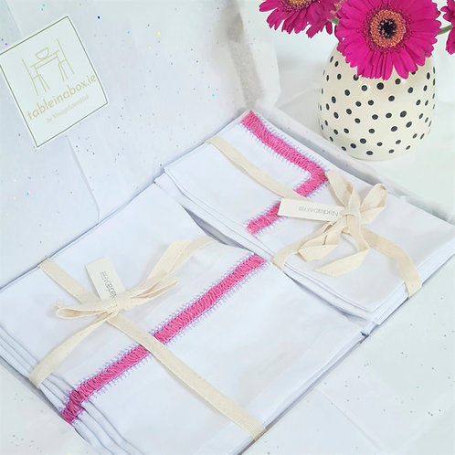 Napkin & Placemat Giftset - Pink