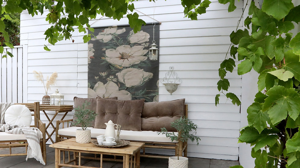 Lyon Sofa bamboo w. cushion