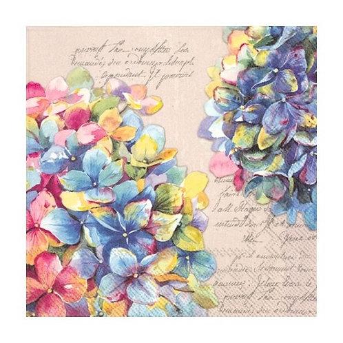 Hydrangeas Luxury Paper Napkin