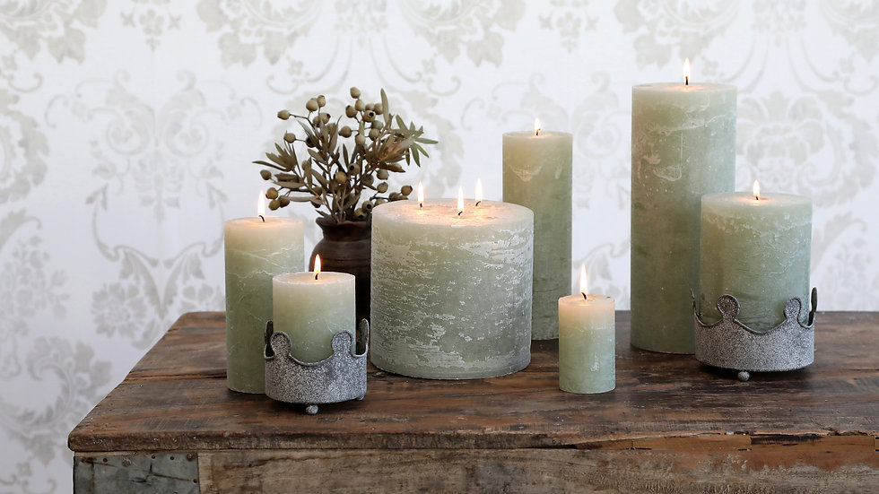 Macon rustic Pillar Candle Verte