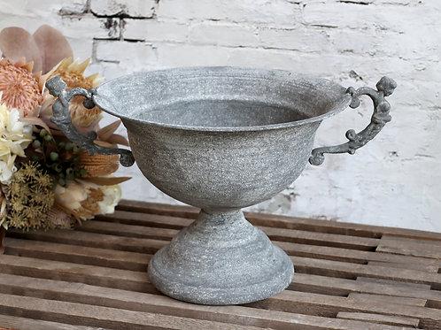 antique zinc garden pot