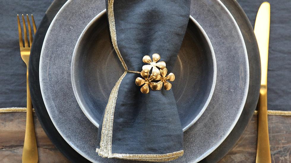 Gold Flower Napkin Ring