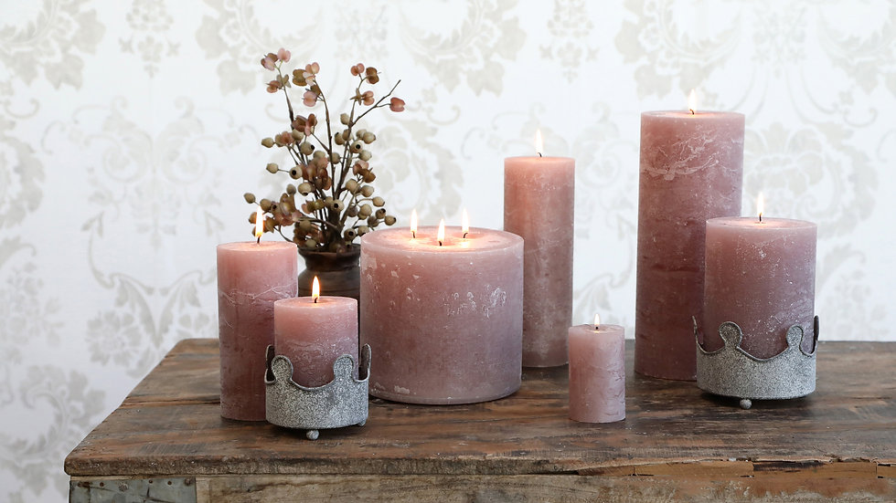 Macon rustic Pillar Candle Taupe