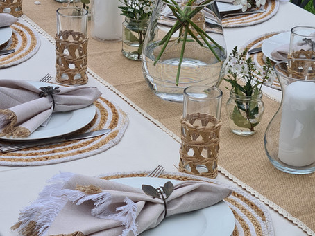 We'd like to Share our Tablescape Secrets for the Mediterranean Look!
