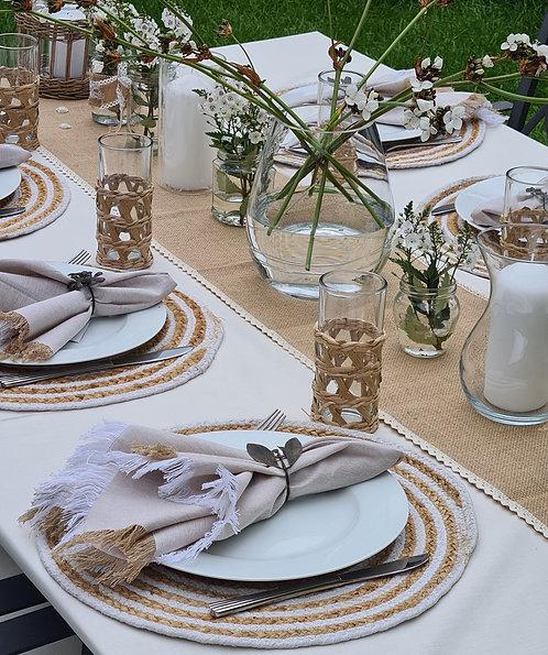 Jute & Fringe Table - 4
