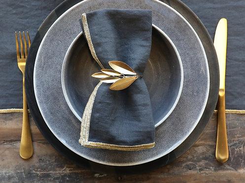 Leaf Napkin Rings Gold