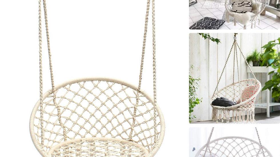 Handmade Cotton Rope Hammock Chair