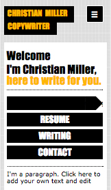 Literary Arts website templates – Copywriter CV
