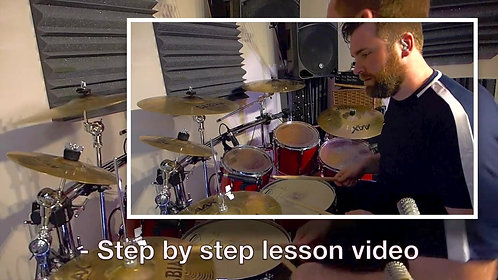 Rudiment Study - 6 Stroke Roll Learning & Play-along Pack