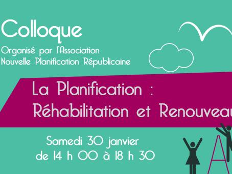 Colloque « La Planification : réhabilitation et renouveau »