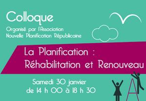 La planification : réhabilitation et renouveau