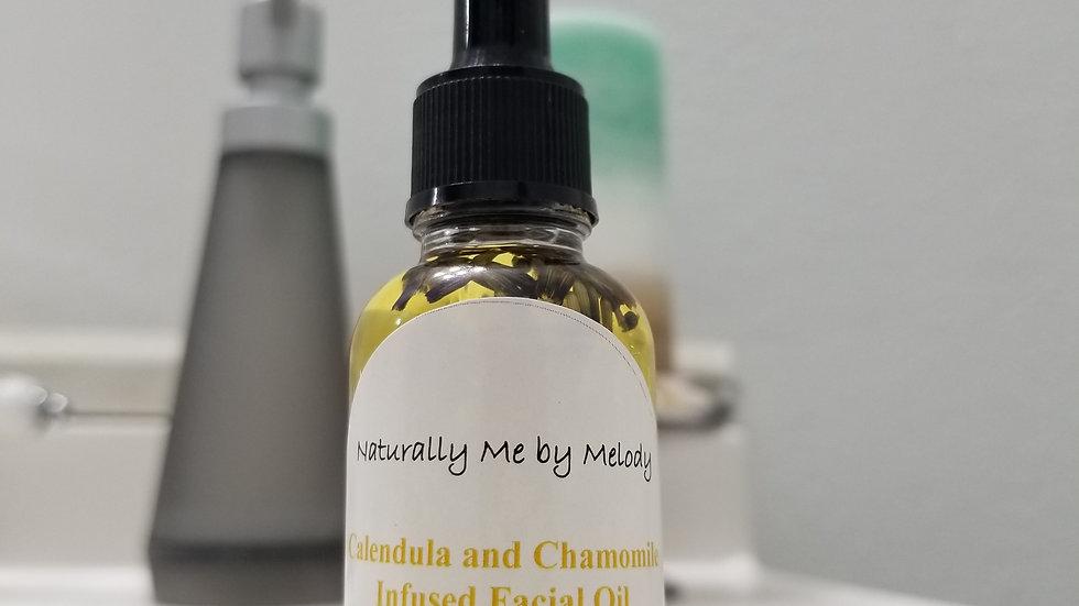 Organic Calendula and Chamomile Infused Facial Oil