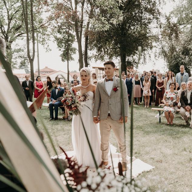 Svatební prostor na statku u Prahy
