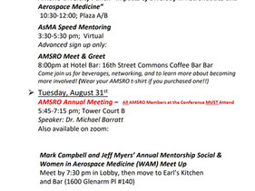 AMSRO list of events for AsMA 2021!
