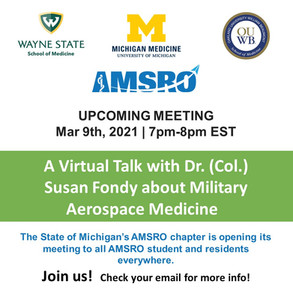 AMSRO Event Upcoming on March 9th!